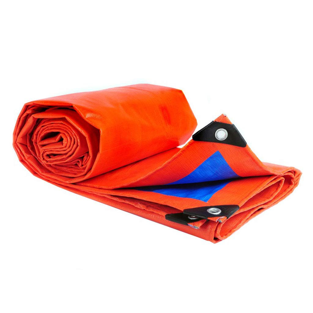 Wasserdichte Plane, Outdoor Cover Wasserdichte Sonnenschutz Plane aus  Kunststoff, Orange Blau, 2  aus 2 Meter 944638