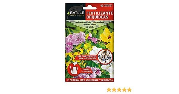 Abonos - Fertilizante Orquideas Sobre para 1L - Batlle: Amazon.es: Jardín