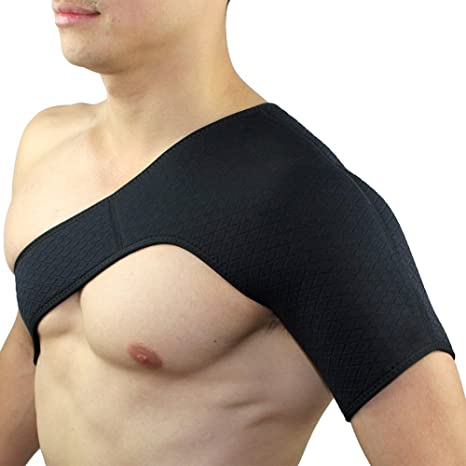 Yooho Gym Sports Single Shoulder brace Support strap Wrap Belt supporto  spalla 918abcd0ac7a