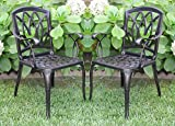 Cheap 2 Cast Aluminum Dining Arm Chairs for Outdoor Patio Furniture WZ-170