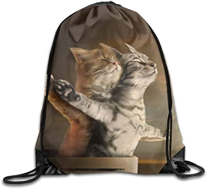 VIMUCIS Space Cat Drawstring Backpack Rucksack Shoulder Bags Training Gym Sack For Man And Women