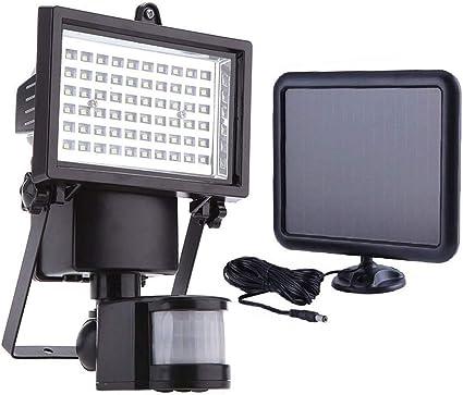 60 LED lámpara solar solar lámpara de pared Foco Incluye Auto onoff con detector de movimiento & brillo Sensor IP44