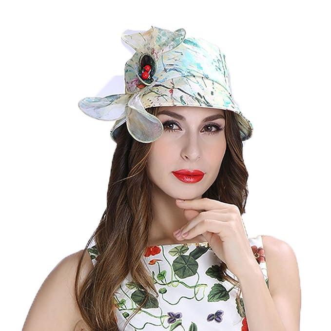 Koola Mujeres Casual Sombreros del Sombrero de Seda Fashion Peak Cap Newsboy Gorro de Caza para Mujer Sunhats: Amazon.es: Ropa y accesorios