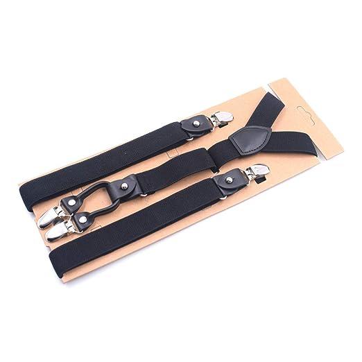 7121f398056 Women Suspenders Classic Y-Back - Dapper Suspenders Stripped w Heavy Duty  Metal Clips