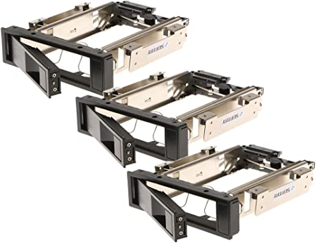 3点セット 3.5インチSATA HDD ハードディスク モバイルラック トレイ不要 ホットスワップサポート ステンレス