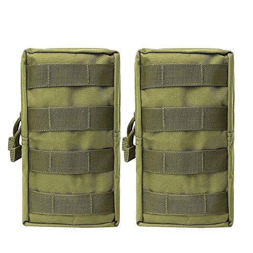 2 Pack Molle Pouches – Tactical Compact Water-resistant EDC Utility Gadget Gear Pouch