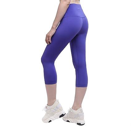 83414fbfe85d1 YUNOGA Women's Yoga Calf Pants - Workout Leggings with High Waist Tummy  Control & Hidden Pockets