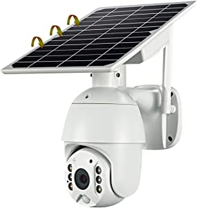 Wireless Solar Security Camera - 1080P HD WiFi Solar Panel and Rechargeable Battery Indoor Home Security Camera,Night Vision, PIR Motion Detection, 2-Way Audio,Multi Users,iOS/Android,IP65 Waterproof