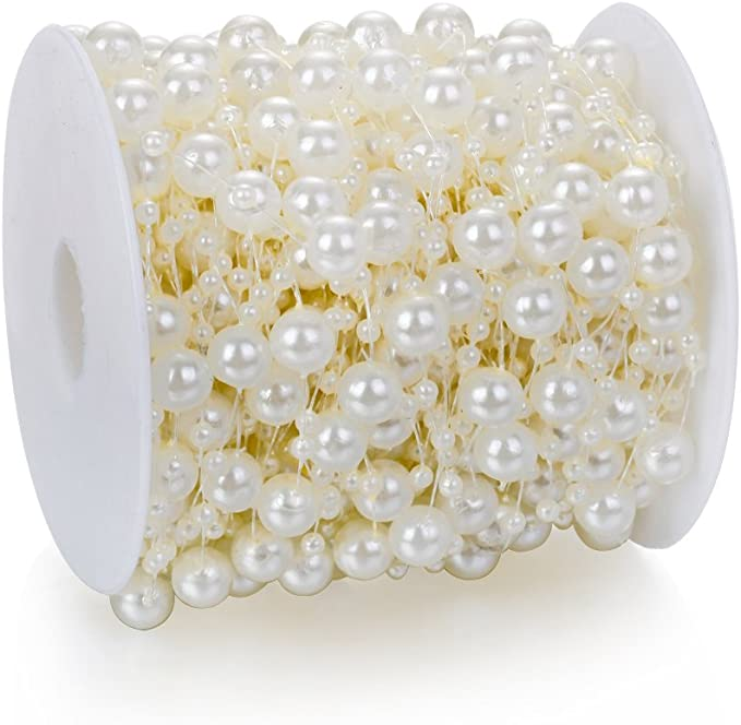 30 Vintage 8mm Faux Ivory Pearl Nugget Beads Bd1402