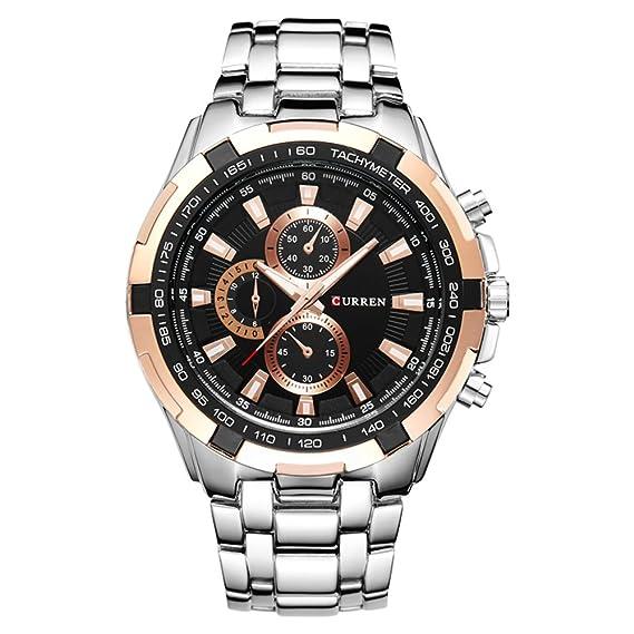 Curren - Reloj de pulsera para hombre, ideal para cualquier ocasión, diseño moderno: Amazon.es: Relojes