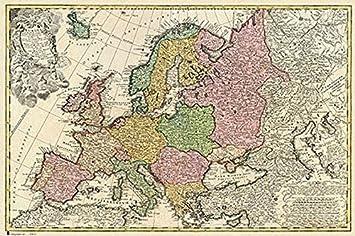 Carte De Ieurope.Erik Publishers Group Gpe 4333 Ancienne Carte De L Europe 61 X 91 5