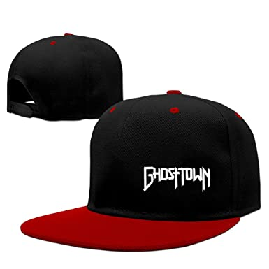 e8aee4c4 A&W Ghost Town Rock Band Red Adjustable Snapback Hip Hop Music Caps ...