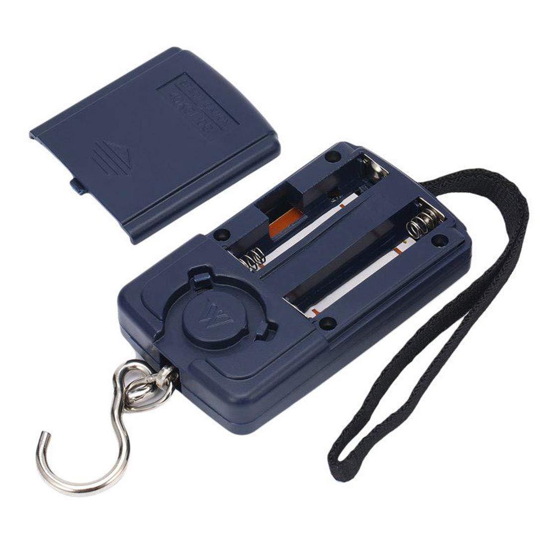 balanza de Bolsillo funci/ón de Mostrar Temperatura con retroiluminaci/ón B/áscula de Pesca balanza de Pesca Digital con Gancho Digital balanza electr/ónica LCD de 88 LB // 40 kg 10 g