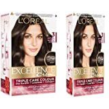 Excellence creme 3 Natural Hair Color (Darkest Brown, 100 g, 72 ml, 24 ml, 26 g) - Pack of 2