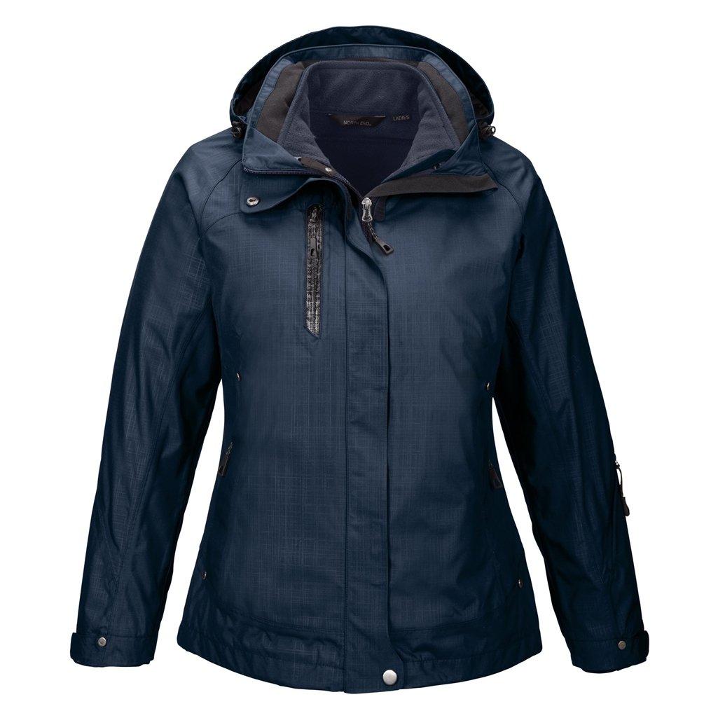 Ash City Ladies Caprice Jacket (X-Small, Classic Navy/Classic Navy)