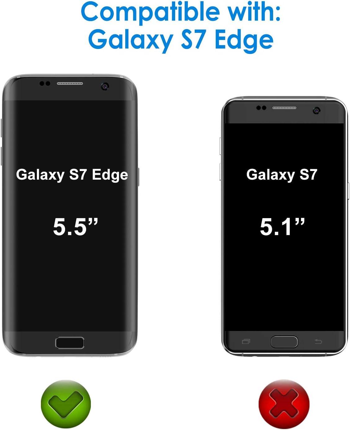 JETech Protector de Pantalla para Samsung Galaxy S7 Edge, Cubierta Completa, Transparentes, 2 Unidades: Amazon.es: Electrónica