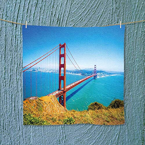 Leighhome Hand Towel Golden gate Bridge in san Francisco California USA Daytime Quick-Dry Towels Size: W 14