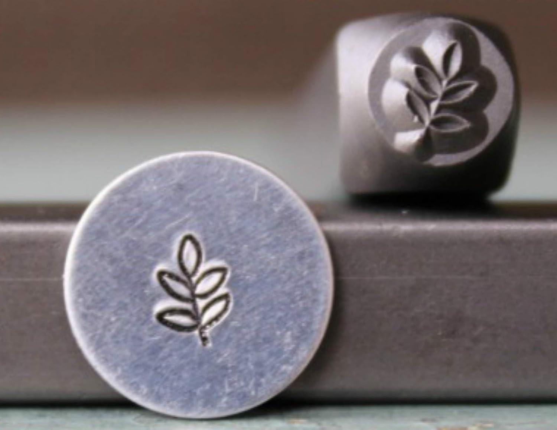 5mm Plant Leaf Stem Metal Punch Design Jewelry Stamp