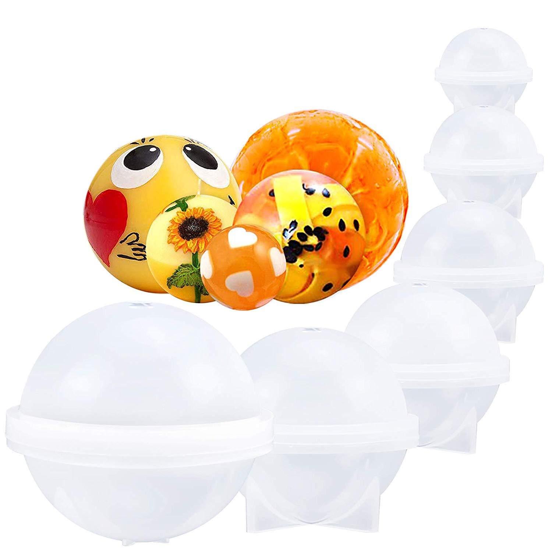 Moldes de silicona para jabón, diseño de esfera con velas ...