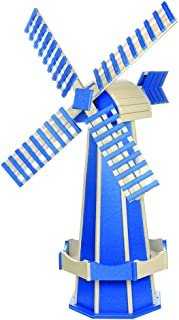 product image for DutchCrafters Decorative Poly Two-Tone Windmill (Large, Bright Blue/Ivory)