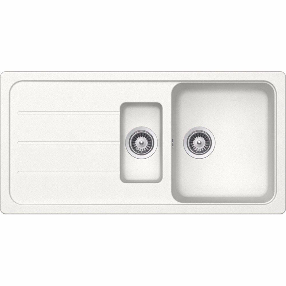 Schock Formhaus D150L 1.5 Bowl Alpina White Granite Kitchen Sink & Waste