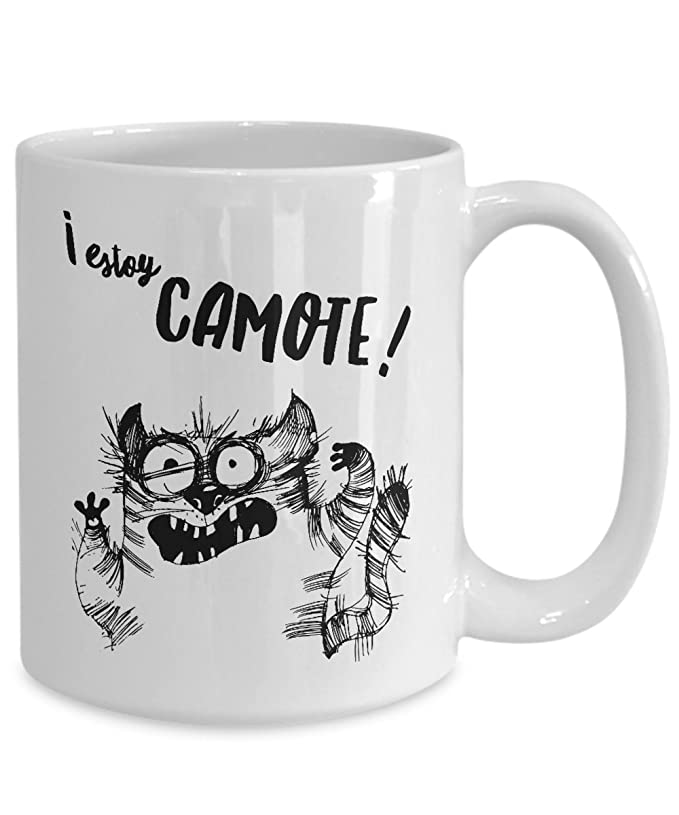 Amazon.com: Taza de Cafe Chistosa El Gatos Loco ; Mugs in Spanish Estoy Camote ; Humor Latino: Kitchen & Dining