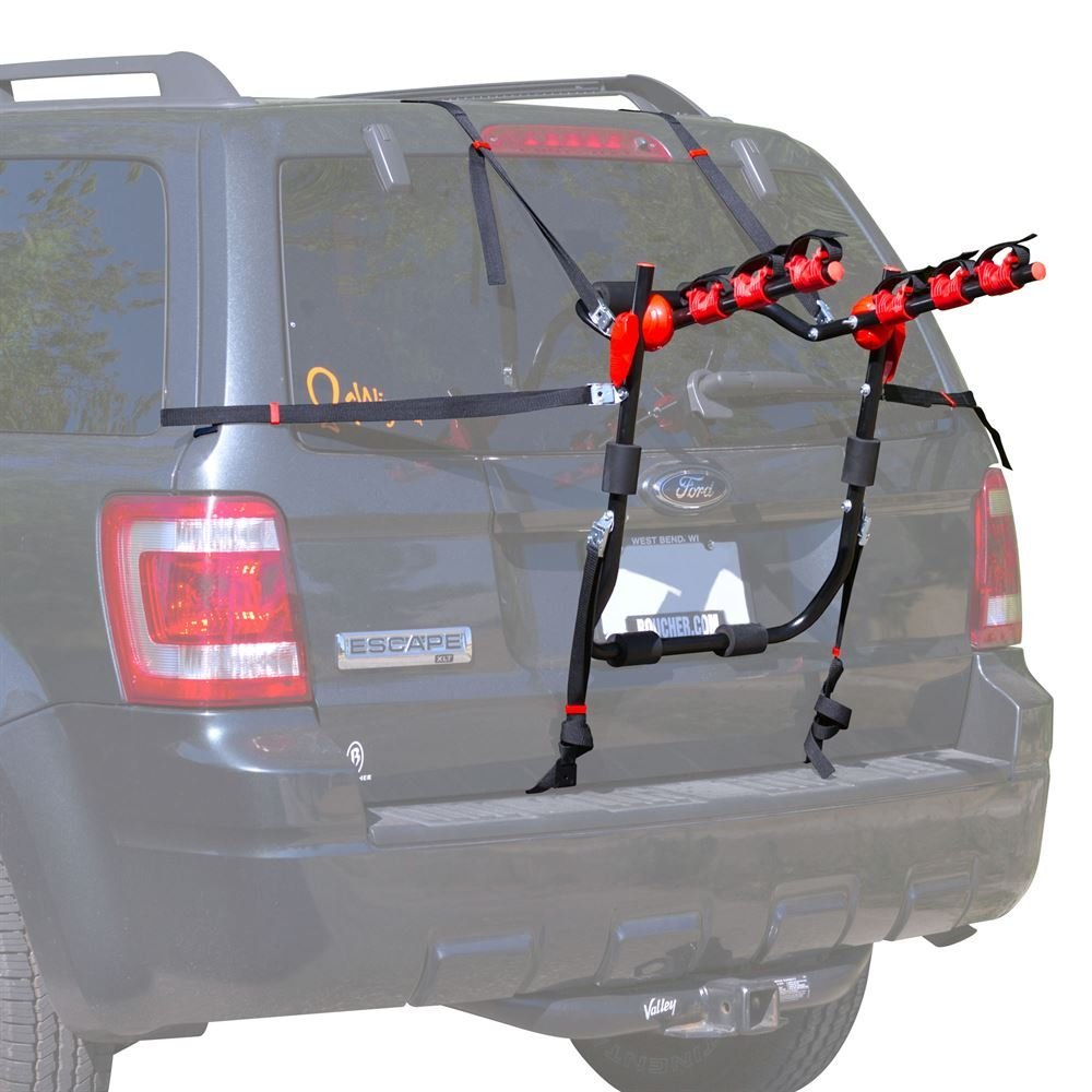 Apex Rage Powersports BC-71031-3 Scout 3-Bike Trunk Mounted Bicycle Carrier Rack