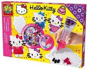 SES creative 14755 Hello Kitty - Set de cuentas para planchar (1600 perlas + perlamatic)