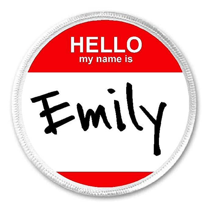 Amazon Com Hello My Name Is Emily 3 Sew Iron On Patch