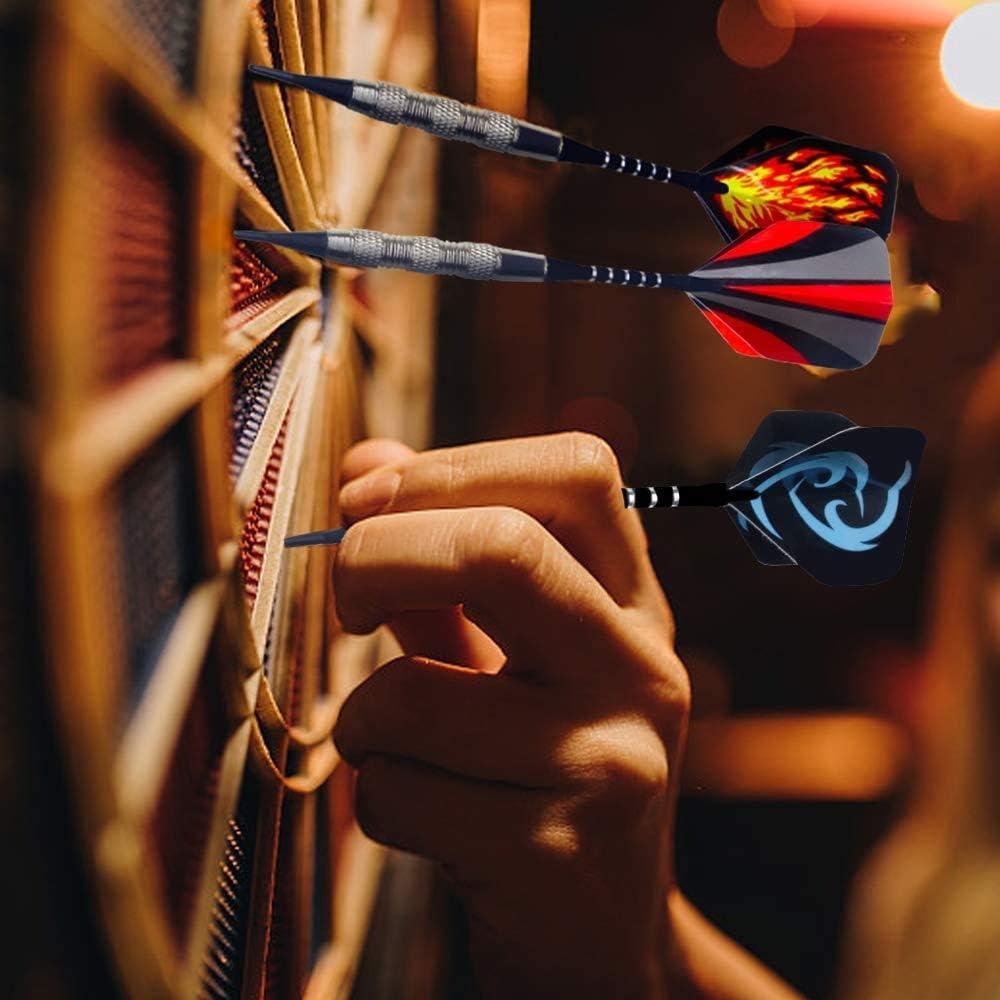 wolketon Elektronische Dartscheibe mit 6 Dartpfeile,E Dartboards Dartautomat,5 Schwierigkeitsgraden und 70 Varianten f/ür 8 Spieler