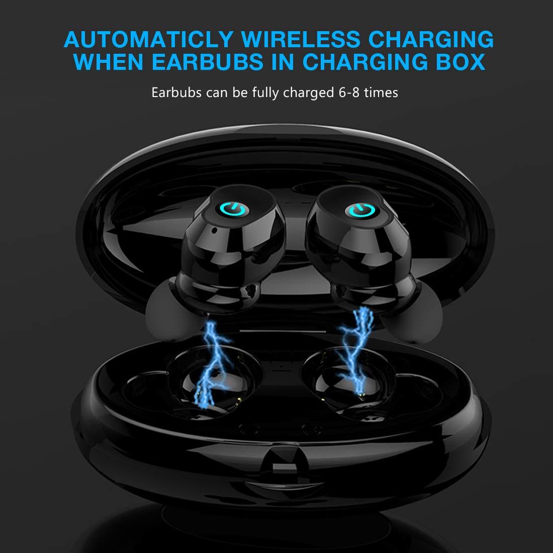 MEALINK Oreillettes sans Fil Le Tout Nouveau mod/èle d/'/écouteur /à TWS Bluetooth 5,0 avec l/'/étui de recha