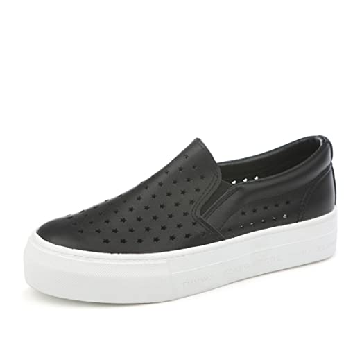 290bcc8d7ab Image Unavailable. Image not available for. Color  Renben Womens Canvas Hollow  Out Slip On Sneakers Platform Casual ...
