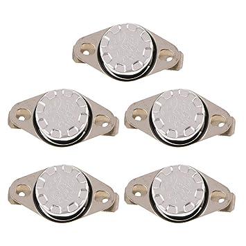 Homyl 5x Interruptor de Control Térmico para Dispensador de Agua Reinicio Automático - Plata 110 ℃: Amazon.es: Coche y moto