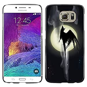 Be Good Phone Accessory // Dura Cáscara cubierta Protectora Caso Carcasa Funda de Protección para Samsung Galaxy S6 SM-G920 // Full Moon Monster