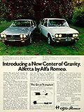 1975 Ad Alfa Romeo Alfetta GT 4 Door Sedan 158/159 Balanced Car Apple Orchard - Original Print Ad