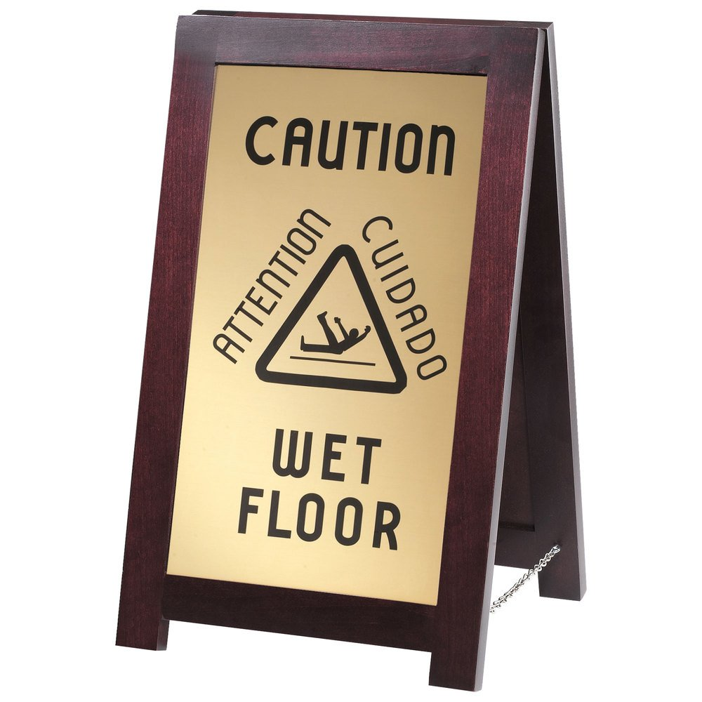 Cal-mil 851-wet doble cara de madera suelo mojado cartel ...