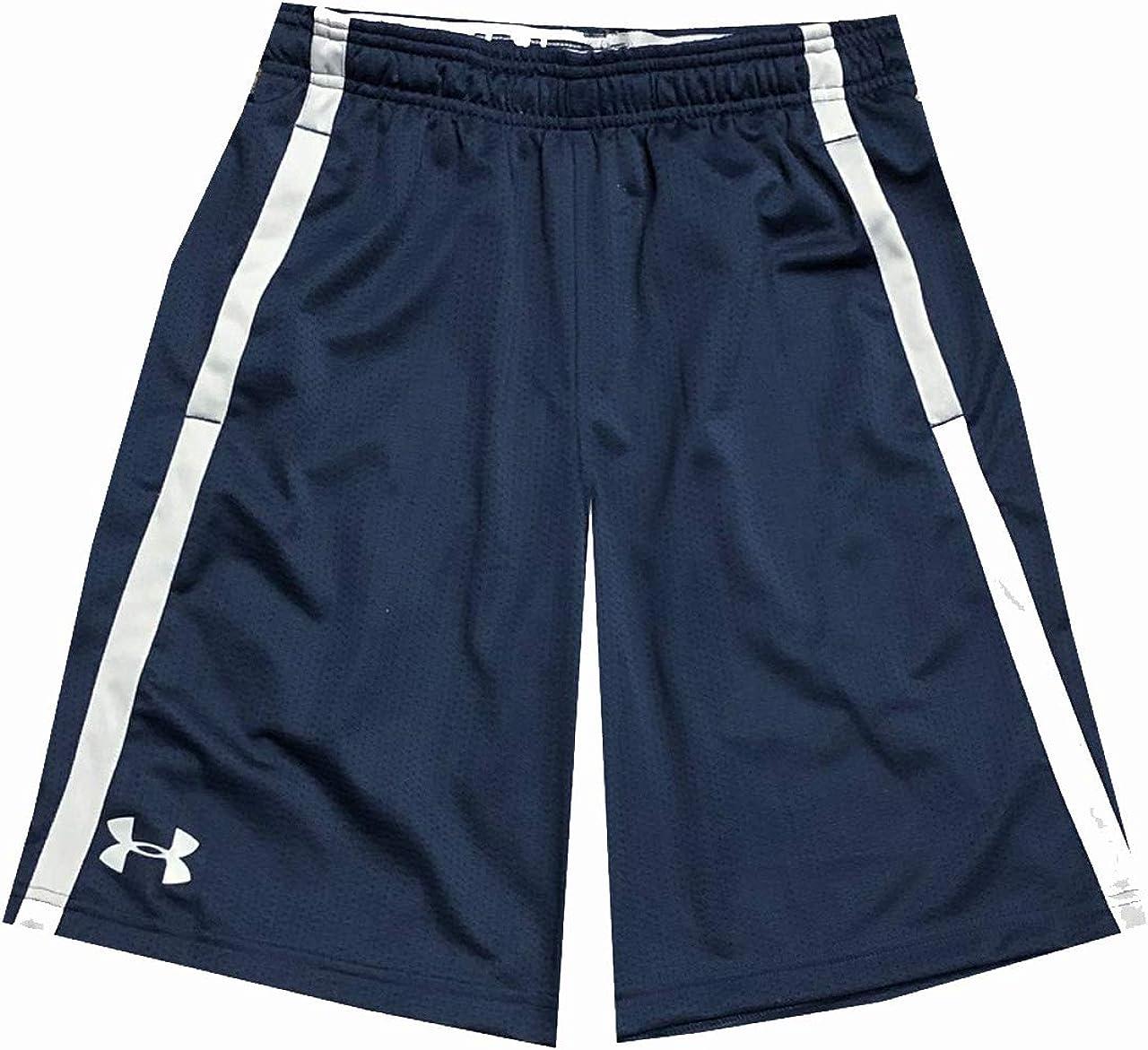 Under Armour Men's UA Tech HeatGear Athletic Mesh Shorts (XL, Navy): Clothing