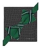 Tommy Hilfiger Mens Sml Dot Wndw Plaid & Pkt Sq Neck Tie Set Green Short
