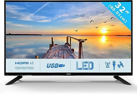 HKC 32C9A: 80 cm (32 Pulgadas) Televisor LED (HD Ready, Triple Tuner, Ci+, HDMI, Reproductor de Medios a través de USB 2.0): Amazon.es: Electrónica