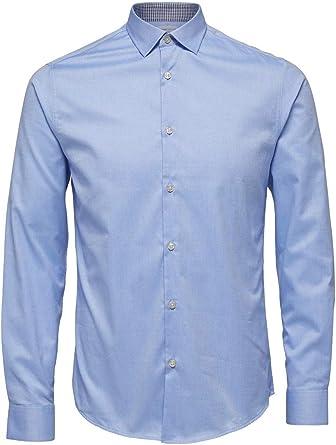SELECTED HOMME Shdonenew-Mark Shirt LS Noos Camisa para Hombre: Amazon.es: Ropa y accesorios