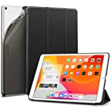 ESR Case for iPad 7th Generation 10.2-Inch, Smart Case with Auto Sleep/Wake, Viewing/Typing Stand Case, Flexible TPU Back with Rubberized Coating Cover, Black