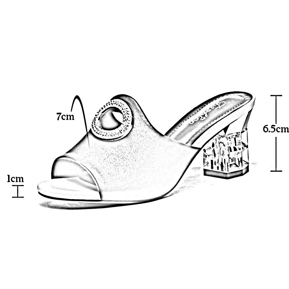 Open Sandali Toe Tacco Donna Moda Alto Estivi Zhirong Con 4dUPwzx00