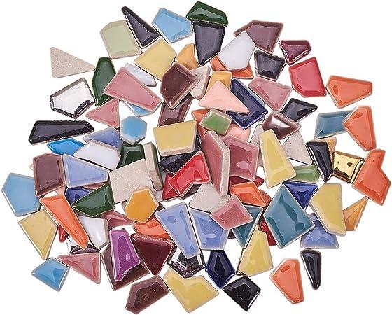 Bulk Mosaic Tiles for Crafts Glass Tiles Glass Tiles for Backsplash Mosaic Glass Pieces Home Decoration DIY Crafts PandaHall 2 Pound 20mm Square Mosaic Tiles