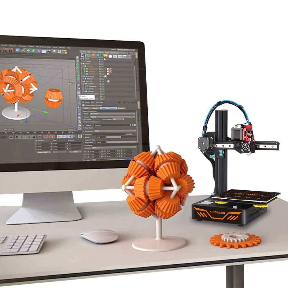 Stampante 3D Spazio di Stampa Facile da Montare 180x180x180mm Doppie Guide Lineari in Alluminio e Doppie Ventole di Raffreddamento con Funzione di Disattivazione DellAudio