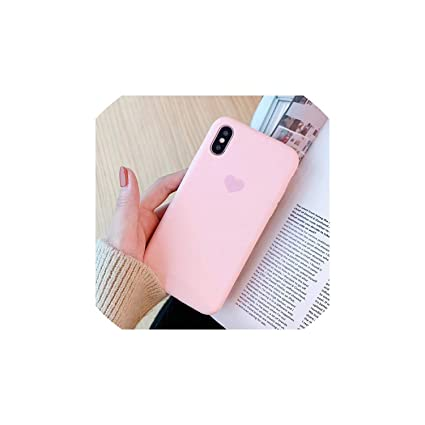 Matte Candy Color Phone Case for iPhone 7 6 6s 8 X Plus Ultra Thin Soft TPU Silicone Cover case for iPhone Xs XS Max,Dark Green,for i8 Plus
