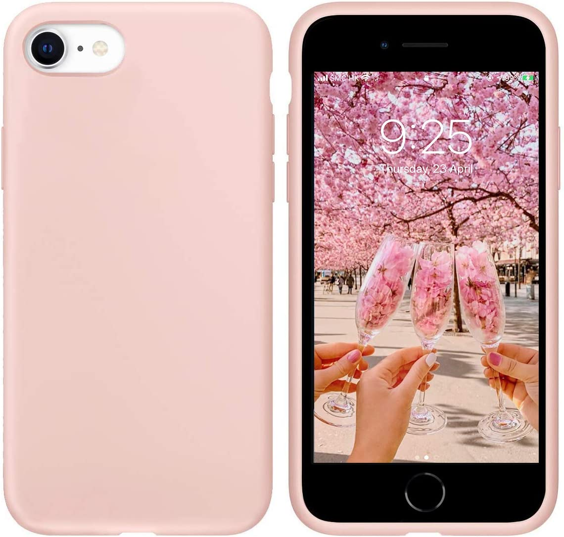 "IceSword iPhone SE 2020 Silicone Case Pink Sand [Upgraded 2nd Generation], iPhone 7/8 (4.7""), Liquid Silicone Gel Rubber, Full Body Drop Protection (4.7"") iPhone 7/8/iPhone SE 2020 - Pink Sand"