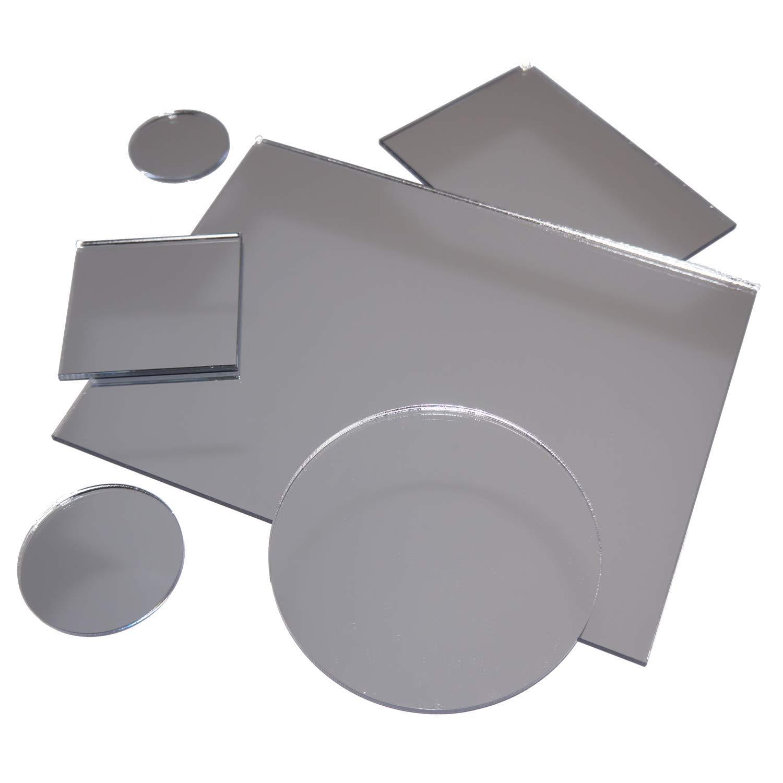 30cm x 100cm in-outdoorshop paneles Espejo acr/ílico de alta calidad 3 mm cristal acr/ílico XT Plata Varios.las formas y tama/ños