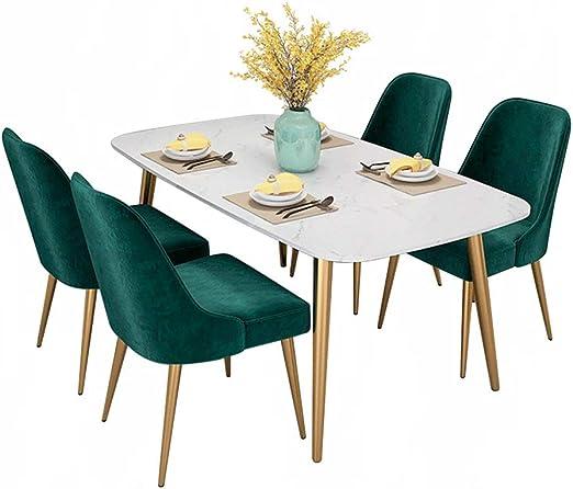 Mesa de Comedor de mármol Ligero Europeo para el hogar, pequeña ...