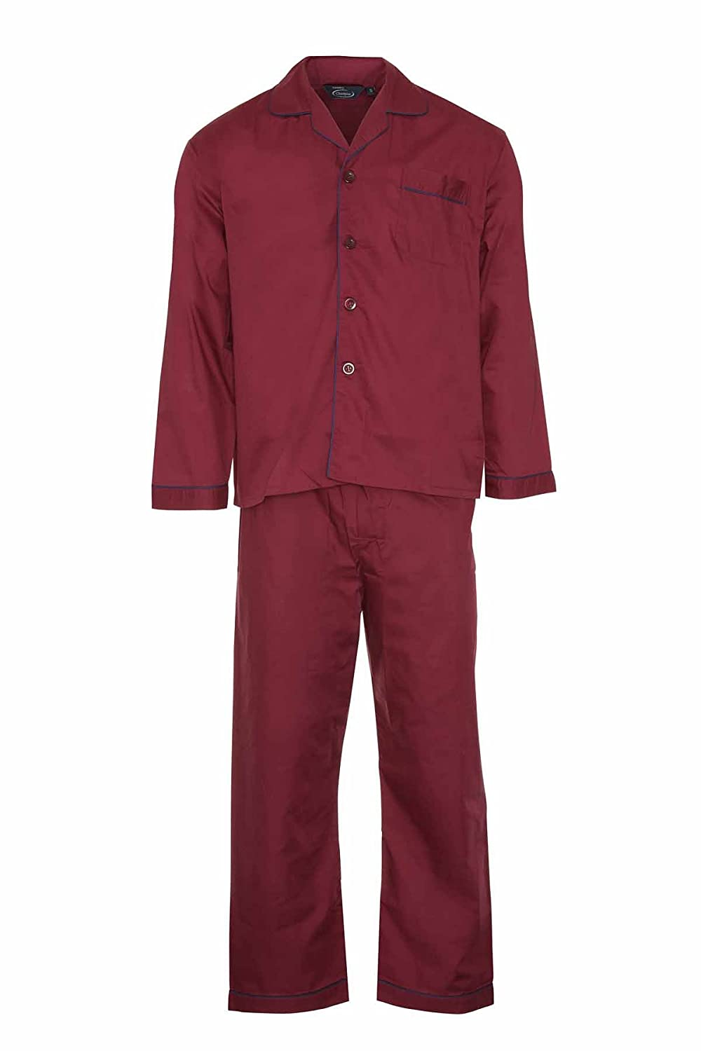 Champion Men's Oxford Plain Design Polycotton Long Pyjama Set 3150