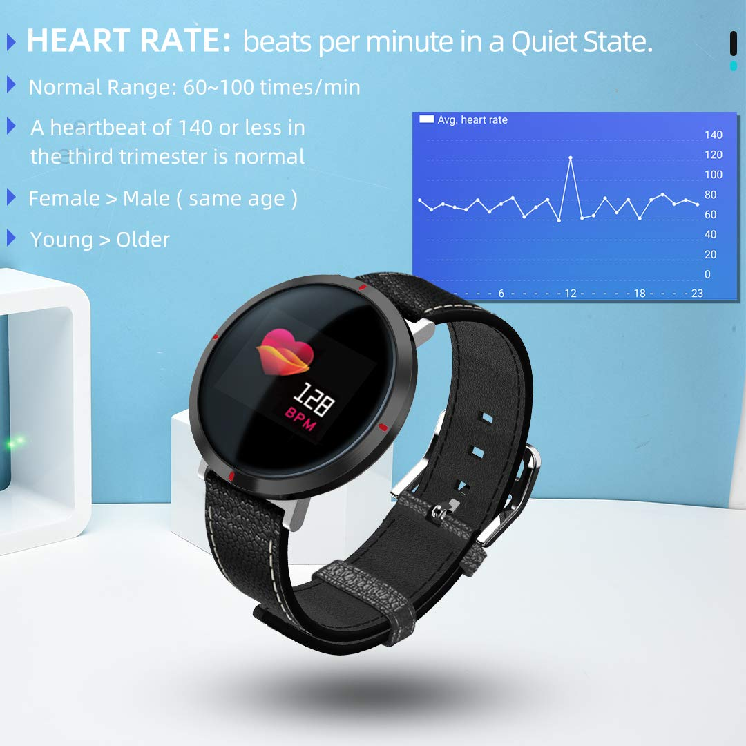 maxtop Smart Watches for Women - Heart Rate Monitor Blood Pressure Sleep Monitor Fitness Tracker Compatible with Android and iOS - Black by maxtop (Image #4)